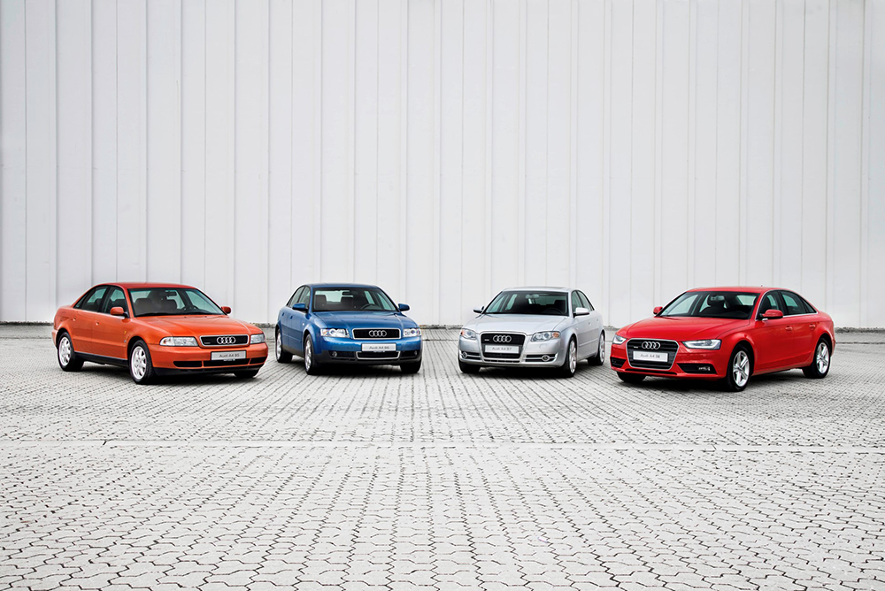 Audi A4 modellen